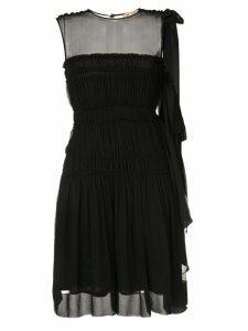 Nº21 smocked mini dress - Black