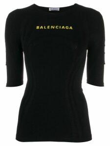 Balenciaga logo athletic top - Black