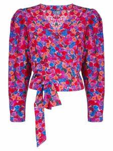Lhd floral print wrap blouse - Pink