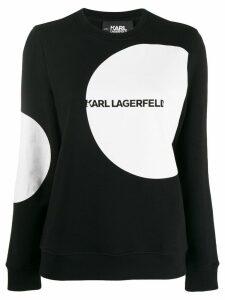 Karl Lagerfeld Karl Dots logo sweatshirt - Black