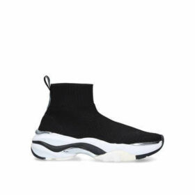 Carvela Lock - Black Knitted Chunky Sock Trainers