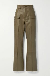 FRAME - Oversized Striped Gauze Shirt - Off-white