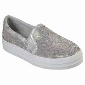 Skechers  Double Up - Blinders  women's Slip-ons (Shoes) in Silver