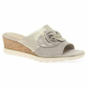 Marco Tozzi  Sandsend Womens Wedge Heel Sandals  women's Mules / Casual Shoes in Beige