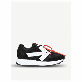 Arrow Runner suede and shell trainers