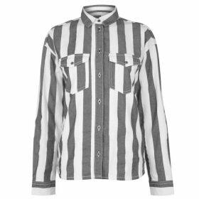 Dr Denim Flow Shirt - Spring Stripe