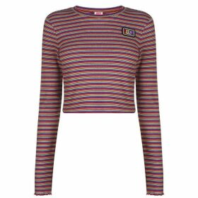 Juicy Stripe Ribbed T Shirt - Skinny Stripe