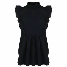 French Connection Sleeveless Blouse - Navy