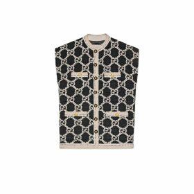 GG tweed sleeveless vest