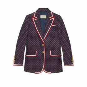 Geometric G jacquard jacket