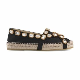 Canvas espadrille with crystals