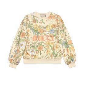 Oversize sweatshirt with Flora print