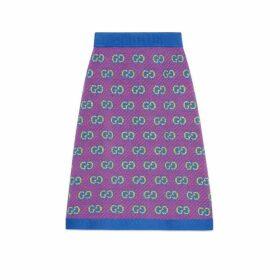 GG stripe wool jacquard skirt