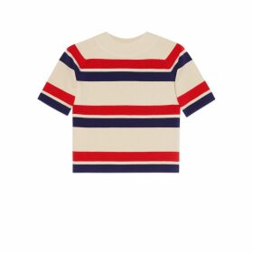 Striped wool top