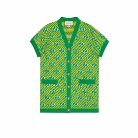 GG stripe wool jacquard vest