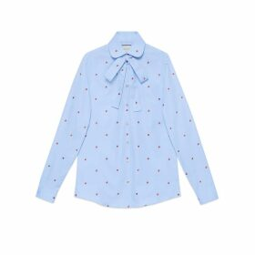 Shirt with strawberry fil coupé