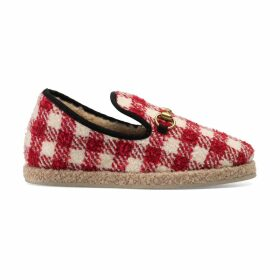 Women's check tweed loafer