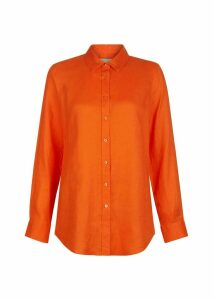 Kristina Linen Shirt Mango Orange