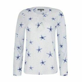 Starfish Crochet Trim Tassel Top