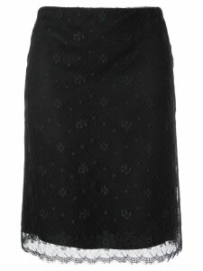 Chanel Pre-Owned 2003 CC logo lace skirt - Brown