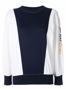 Yves Saint Laurent Pre-Owned colour-blocked sweatshirt - White