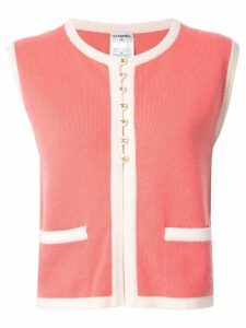 Chanel Pre-Owned two-tone cashmere vest - PINK