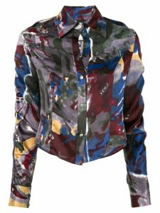 Versace Pre-Owned printed cropped shirt - Multicolour