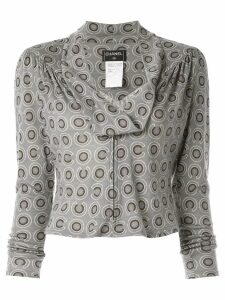 Chanel Pre-Owned 2001 CC long sleeve tops - Grey