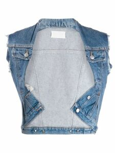 Maison Martin Margiela Pre-Owned denim vest - Blue