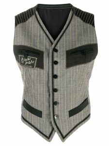 Jean Paul Gaultier Pre-Owned 1990's Les Rabbins Chic vest - Grey