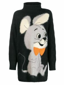 JC de Castelbajac Pre-Owned cartoon motif jumper - Black
