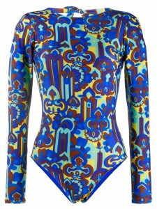 La Doublej longsleeved surf suit - Blue