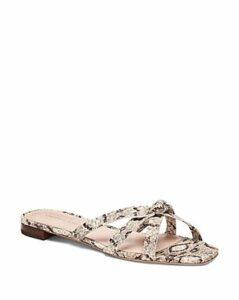 Loeffler Randall Women's Eveline Snakeskin-Embossed Leather Thong Sandals