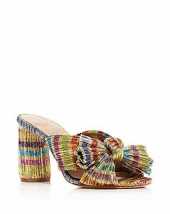 Loeffler Randall Women's Penny Knotted Block Heel Mule Sandals