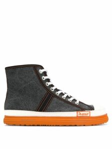 Martine Rose canvas basketball boots - Black