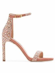 Stuart Weitzman crystal embellished sandals - PINK