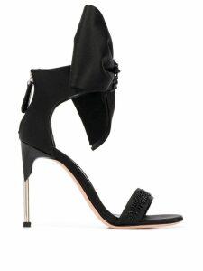 Alexander McQueen pin heel bow sandals - Black