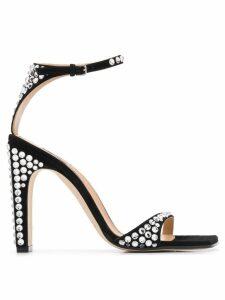 Sergio Rossi crystal embellished sandals - Black