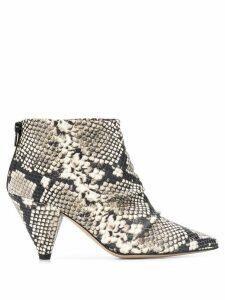 Marc Ellis snakeskin effect ankle boots - Neutrals