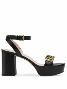 Gucci Platform sandal with Double G - Black
