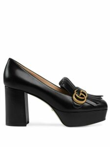 Gucci decollete in pelle loafers - Black