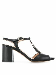 Albano oval disc sandals - Black