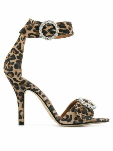 Paris Texas leopard print sandals - NEUTRALS
