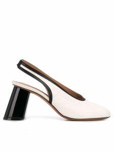Marni slanted heel pumps - White