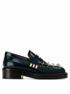 Marni pierced thick sole loafers - Blue