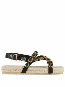 Gucci crystal embellished sandals - Black