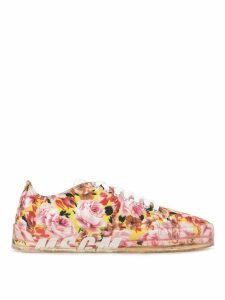 MSGM floral print sneakers - Red