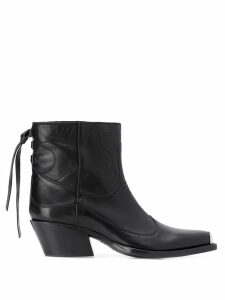 Htc Los Angeles ankle western boots - Black