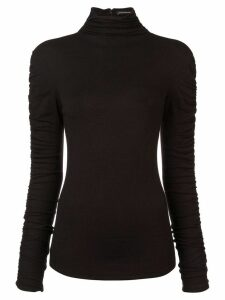 Josie Natori stretch knit sweater - Black