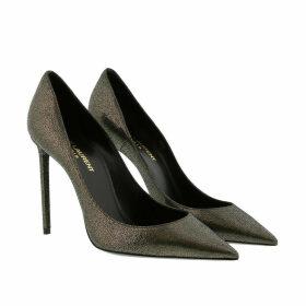 Saint Laurent Pumps - Zoe Pumps Metallic Leather Black - grey - Pumps for ladies
